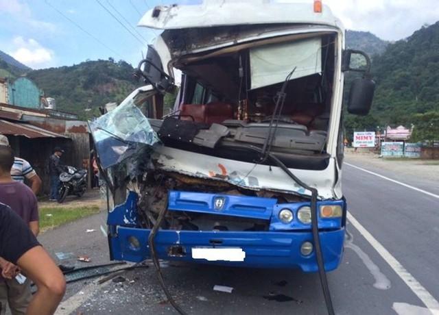 Hình ảnh chiếc xe khách sau khi đã được an toàn