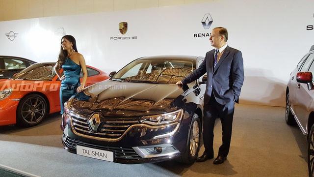 Renault Talisman, mẫu sedan cỡ trung cạnh tranh với Toyota Camry và Honda Accord tại Việt Nam.