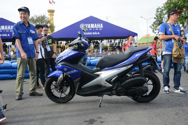 Yamaha NVX 155 hoàn toàn mới được giới thiệu lần đầu tiên tại trường đua Sepang, Malaysia, với sự tham dự của tay đua MotoGP huyền thoại Valentino Rossi, sau đó, mẫu xe này cũng vừa ra mắt các khách hàng Indonesia.