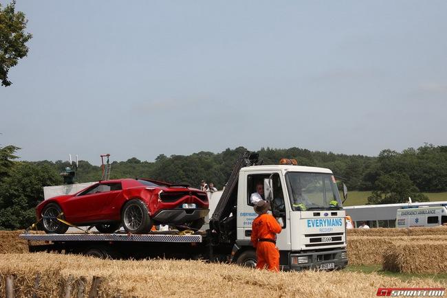 Hiện trường vụ tai nạn của xế độc Italdesign Parcour 9