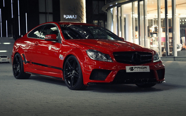 "Mercedes-Benz C-Class Coupe bản độ ""rực lửa"" của Prior Design 3"