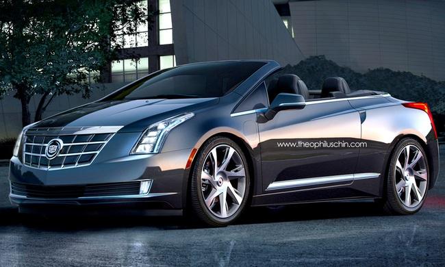 Phác họa Cadillac ELR Convertible - xe hybrid mui trần 1