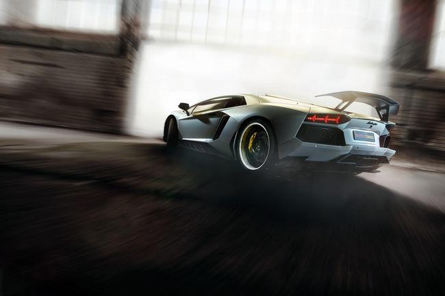 Xế độ Aventador phun lửa khoe sức mạnh 7