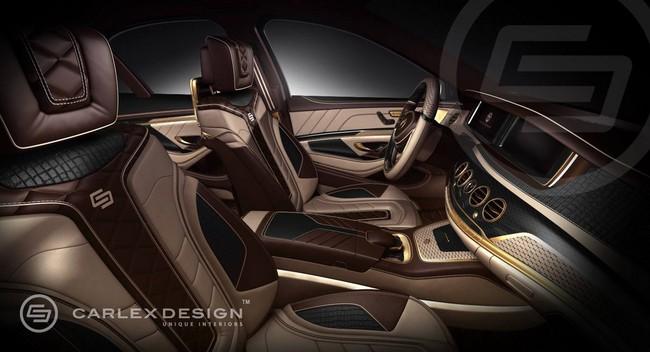 Mercedes-Benz S-Class với nội thất mạ vàng 1