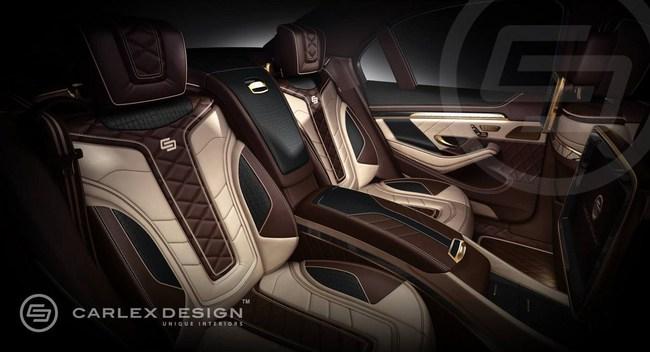 Mercedes-Benz S-Class với nội thất mạ vàng 2