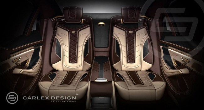 Mercedes-Benz S-Class với nội thất mạ vàng 3