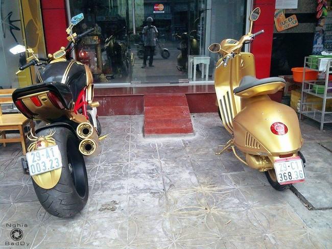 """Choáng với bộ ba Ducati Diavel, Vespa 946 và Range Rover """"mạ vàng"""" tại Hà Nội 3"""