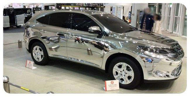 Soi gương bằng xe thể thao đa dụng Toyota Harrier 2