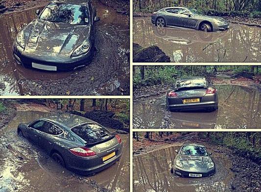 Hậu vệ Liverpool bỏ rơi xế sang Porsche Panamera trong bùn 1