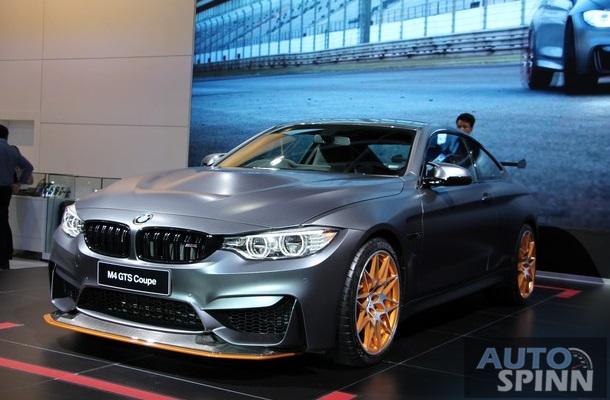 Về thiết kế, BMW M4 GTS sở hữu bộ body kit khí động hầm hố, bao gồm cánh gió trước tùy chỉnh, nắp capô mới và cánh gió đuôi bằng sợi carbon cũng tùy chỉnh. Cánh gió sau đi kèm giá đỡ bằng nhôm được chế tạo bằng máy CNC và gắn liền với nắp cốp sau sau làm từ nhựa gia cố sợi carbon.