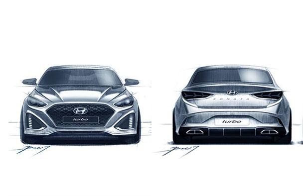 Sedan cỡ trung Hyundai Sonata 2018 lần đầu tiên hiện nguyên hình - Ảnh 3.