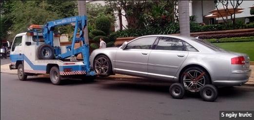 Đắng lòng cảnh Honda Civic bị kéo trên đường với lốp sau bị khoá - Ảnh 2.