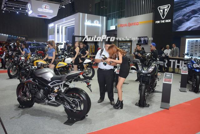 Triumph mang dàn chiến binh đến tham dự triển lãm VIMS 2017 - Ảnh 1.