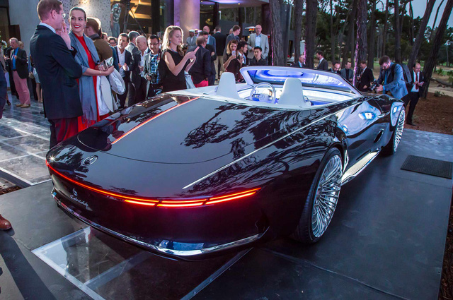 Chiêm ngưỡng vẻ đẹp xuất sắc của Vision Mercedes-Maybach 6 Cabriolet ngoài đời thực - Ảnh 6.