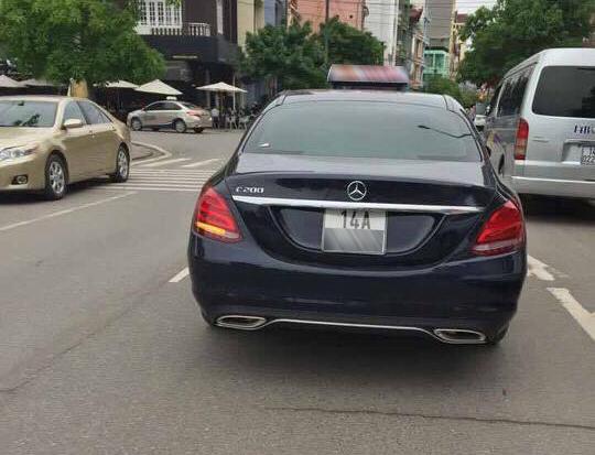 Mercedes-Benz C200 2017 làm xe taxi tại Quảng Ninh - Ảnh 1.