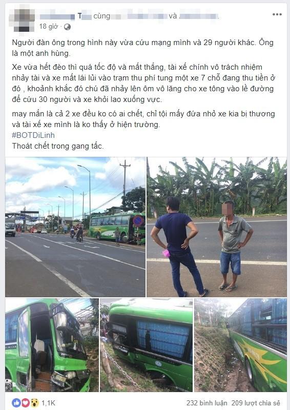 Sự thật về vụ tài xế bỏ lái, hành khách ôm vô lăng cứu 30 người khỏi lao xuống vực - Ảnh 2.
