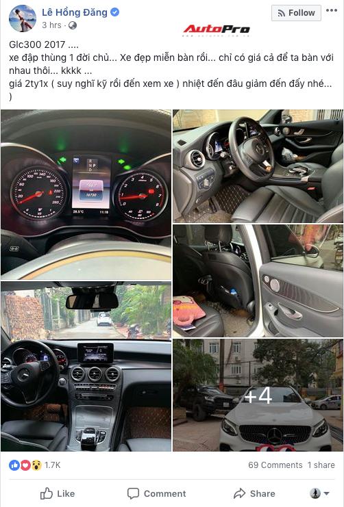 """Rao bán """"Mẹc"""" GLC300 cũ như Hồng Đăng Người phán xử: Không cần bàn về xe, chỉ cần bàn về giá - Ảnh 1."""