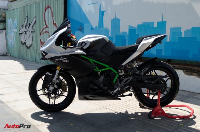 """Thợ Việt độ Bajaj Pulsar RS200 """"lên"""" Kawasaki Ninja H2R - Ảnh 1."""