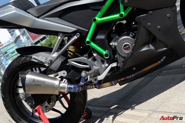 """Thợ Việt độ Bajaj Pulsar RS200 """"lên"""" Kawasaki Ninja H2R - Ảnh 8."""