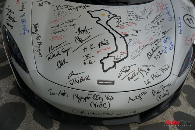 """Kết thúc Car & Passion 2018, McLaren 650S Spider của Cường đô-la """"xăm"""" dày đặc chữ ký - Ảnh 4."""