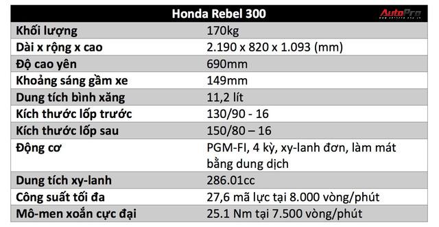 Đánh giá Honda Rebel 300: Xe côn tay đa dụng cho nam giới - Ảnh 3.