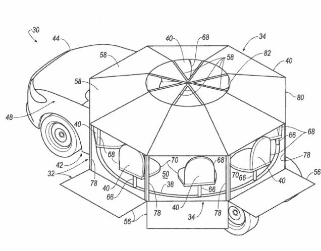 Trong tương lai, xe Ford có nội thất như... đu quay - Ảnh 1.