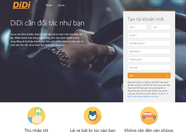 Ứng dụng Didi nhái vua gọi xe Trung Quốc tiếp tục xuất hiện tại Việt Nam, chiêu mộ tài xế cũ của Uber - Ảnh 2.