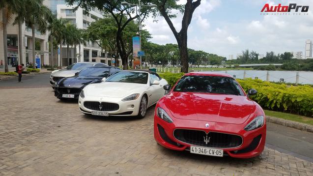 Offline kiểu đại gia: Mang dàn xe sang Maserati đi thưởng trà tại Sài Gòn - Ảnh 1.