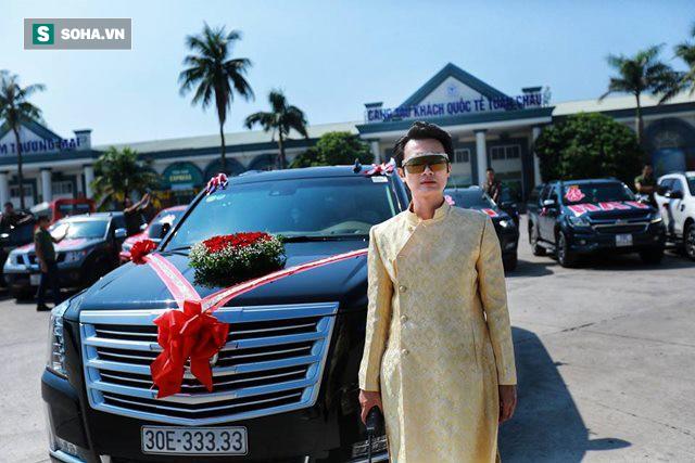Xe Khủng long Mỹ dẫn đầu đoàn rước dâu hoành tráng ở Quảng Ninh - Ảnh 3.