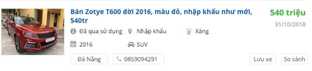 Khan hàng mới, Zotye cũ tăng giá - Xe chạy 4 năm bán lỗ chỉ hơn 100 triệu - Ảnh 5.