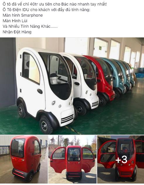 IDU - Ô tô Trung Quốc giá sốc 40 triệu, có cả camera lùi tại Việt Nam - Ảnh 1.