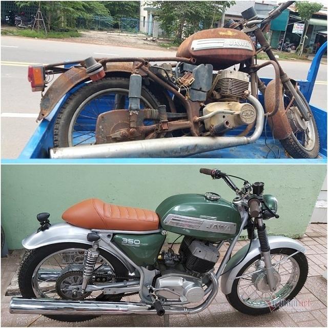 Dan choi Tay Ninh phu phep xe co Jawa 29 tuoi cu ky thanh moi toanh