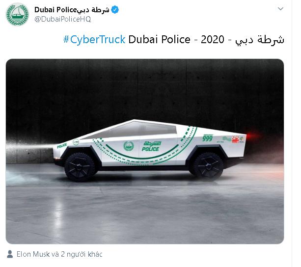 Đội tuần tra toàn siêu xe của cảnh sát Dubai sẽ có thêm thành viên mới là Tesla Cybertruck - Ảnh 2.