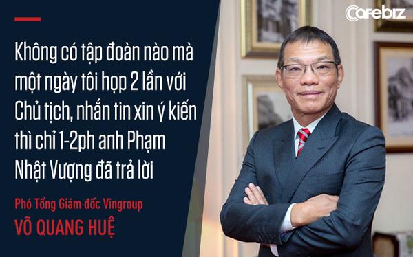 Cuộc chơi thần tốc của VinFast từ góc nhìn của chiến tướng Võ Quang Huệ: Không có tập đoàn nào mà một ngày tôi họp 2 lần với Chủ tịch, nhắn tin xin ý kiến thì chỉ 1-2 phút anh Phạm Nhật Vượng đã trả lời - Ảnh 1.