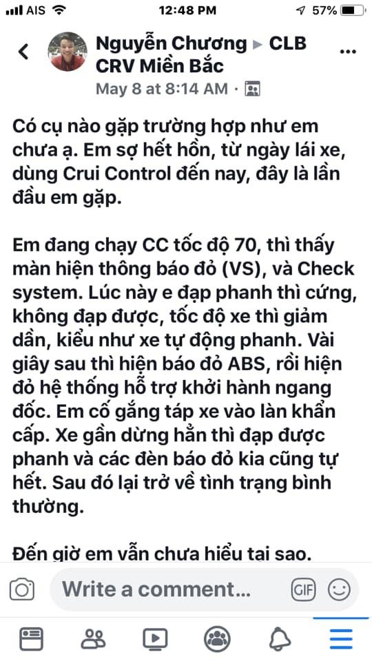Nhiều chủ xe Việt lo lắng vì Honda CR-V đời mới có thể bị mất phanh khi sử dụng Cruise Control - Ảnh 4.