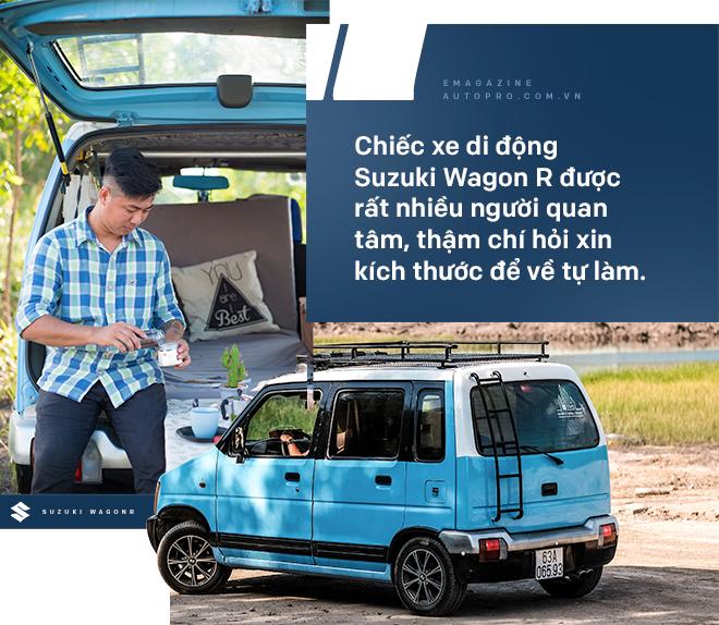 Gặp người mua Suzuki Wagon R giá 90 triệu đồng độ thành nhà di động: 'Việt Nam đẹp lắm, đi tới đâu mà ở khách sạn thì phí' - Ảnh 16.
