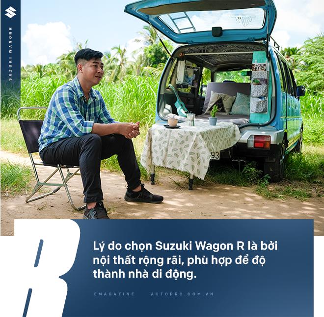 Gặp người mua Suzuki Wagon R giá 90 triệu đồng độ thành nhà di động: 'Việt Nam đẹp lắm, đi tới đâu mà ở khách sạn thì phí' - Ảnh 20.