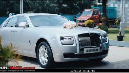 Loạt xe cưới sang chảnh của giới siêu giàu - Ảnh 4.