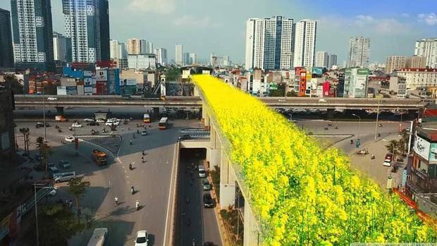 Đường sắt Cát Linh - Hà Đông bỗng hóa hoa vàng trên cỏ xanh qua bàn tay photoshop, thêm loạt lựa chọn bất ngờ được dân mạng ủng hộ rào rào - Ảnh 3.