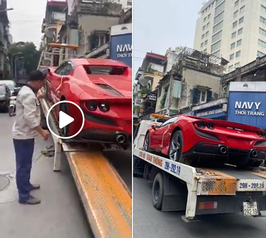 Hình ảnh chiếc Ferrari F8 Spider được chụp tại Hà Nội.