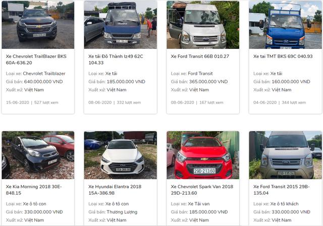 Ngân hàng phát mại hàng loạt ô tô - Ảnh 2.