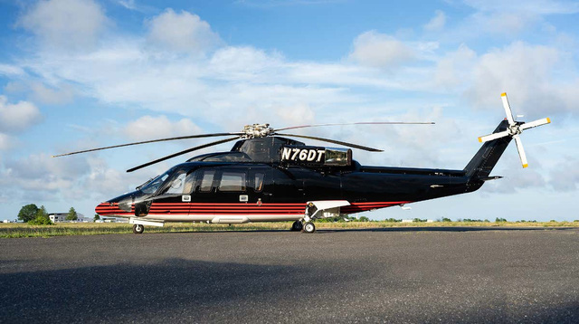 Theo Forbes, Tổng thống Mỹ Donald Trump đang rao bán một trong những chiếc phi cơ riêng của mình. Chiếc máy bay ông Trump bán là trực thăng dòng S76 có mã quân sự N76DT. (Ảnh: Aero Aset)