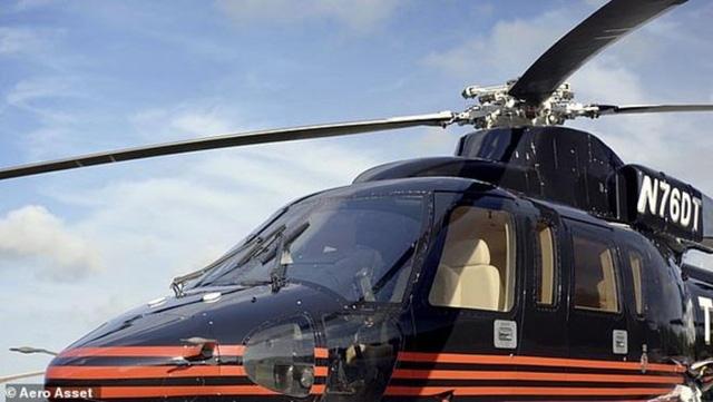 Chiếc trực thăng này được sử dụng rộng rãi trong chiến dịch tranh cử năm 2016 của ông Trump. Tuy nhiên, khi vào Nhà Trắng năm 2017, ông Trump đã không sử dụng máy bay này nữa. (Ảnh: Aero Aset)
