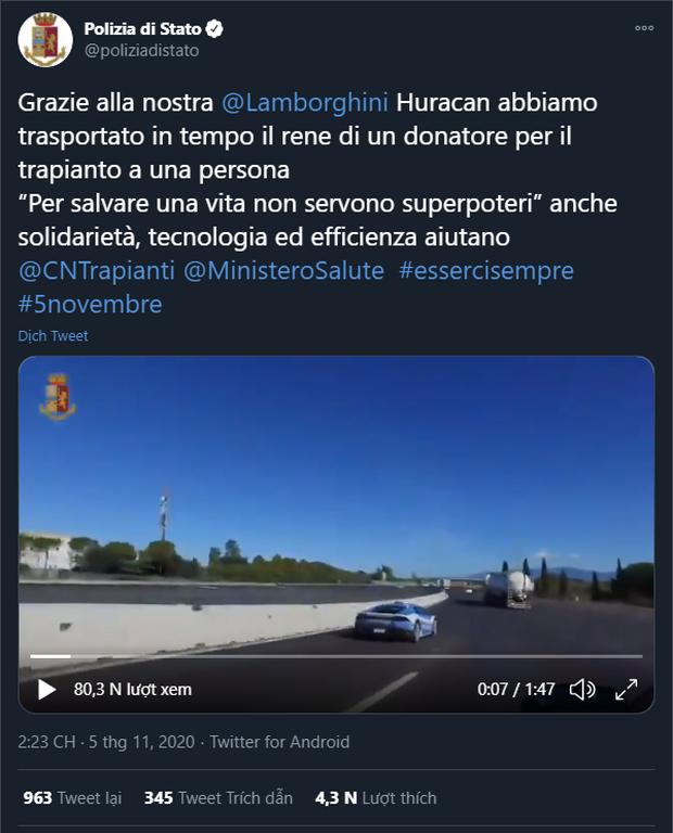 Cảnh sát Ý được trang bị siêu xe Lamborghini 16 tỷ - Ảnh 2.
