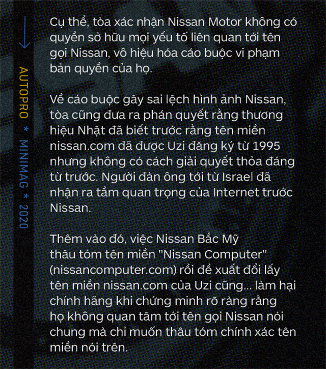 Chuyện ít biết về Nissan: Mất 8 năm và cả khối gia tài để đấu với một người đàn ông, đòi lại nissan.com nhưng bất thành - Ảnh 13.