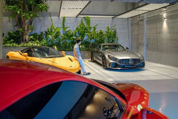 Hé lộ 1 góc quá khủng trong biệt thự của Cường Đô La: Riêng garage chứa siêu xe đã có 2 tầng, phải đi thang máy mới hết - Ảnh 4.