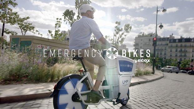 Pháp bắt đầu sử dụng xe đạp cứu thương - Ảnh 3.