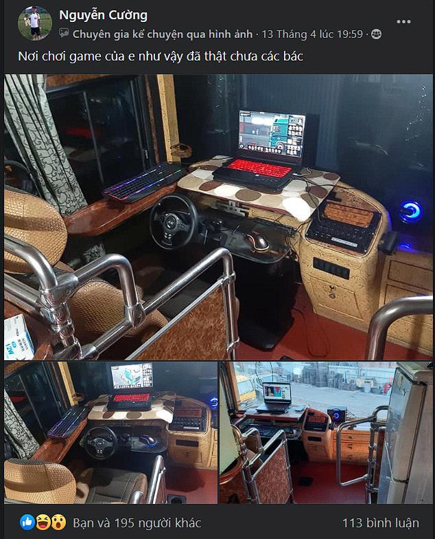 Game thủ biến xe khách cũ thành góc chơi game có một không hai - Ảnh 2.