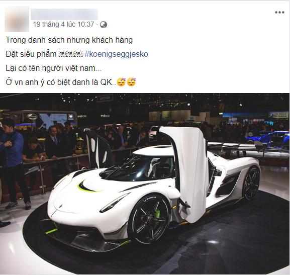 Rộ tin đồn hậu duệ siêu xe nhanh nhất thế giới Koenigsegg Jesko về Việt Nam, tên chủ xe QK còn gây tò mò hơn - Ảnh 1.
