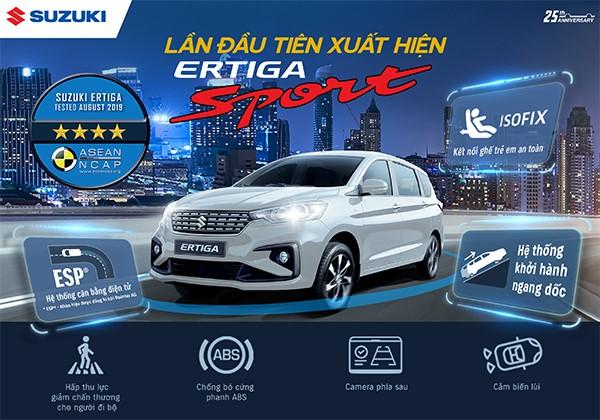 Suzuki Ertiga Sport 2020 chốt giá 559 triệu đồng tại Việt Nam: Thêm cân bằng điện tử, đáp trả Mitsubishi Xpander - Ảnh 1.